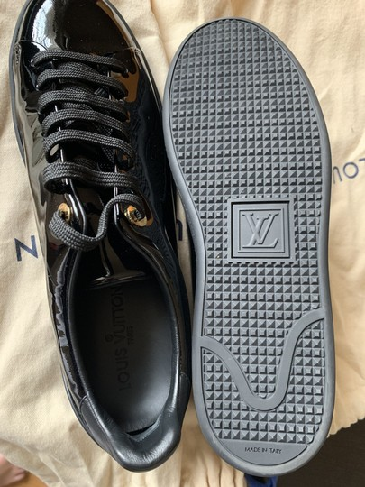 Louis Vuitton Sneakers Front Row Sneakers Patent Leather Black Athletic Image 3