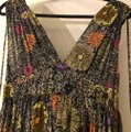 Matthew Williamson Black with Multicolored Flowers and Light Gold Sequence. Long Formal Dress Size 8 (M) Matthew Williamson Black with Multicolored Flowers and Light Gold Sequence. Long Formal Dress Size 8 (M) Image 7