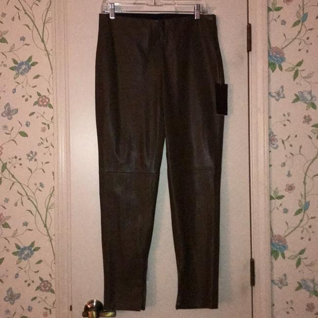 Zara Basic Faux Legging Olive Green Skinny Pants Olive green Image 1