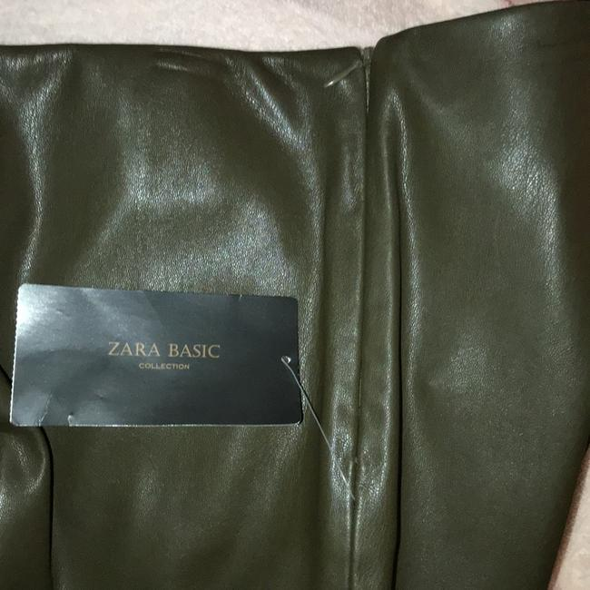 Zara Basic Faux Legging Olive Green Skinny Pants Olive green Image 6