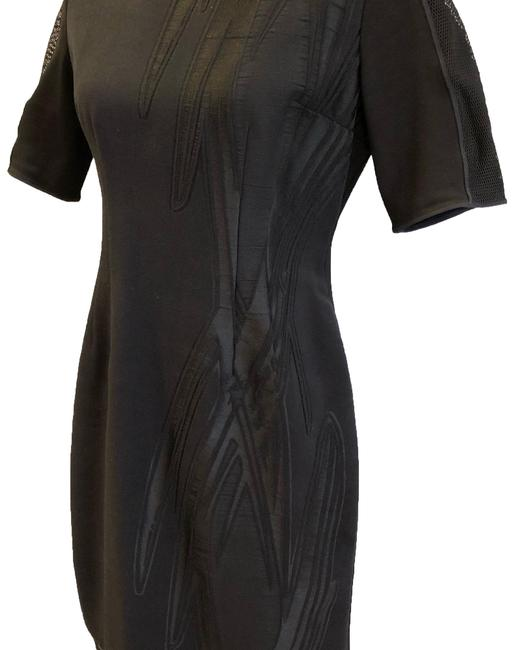 Elie Tahari Black Mid-length Work/Office Dress Size 8 (M) Elie Tahari Black Mid-length Work/Office Dress Size 8 (M) Image 1