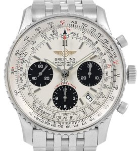 Breitling Breitling Navitimer Chronograph Panda Steel Mens Watch A23322 Box Pape