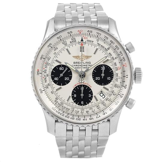 Breitling Breitling Navitimer Chronograph Panda Steel Mens Watch A23322 Box Pape Image 1