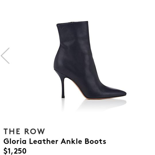 The Row Navy Boots Image 4