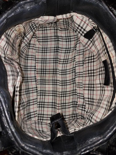 Burberry Extra-large Leather Convertible Euc Hobo Bag Image 5