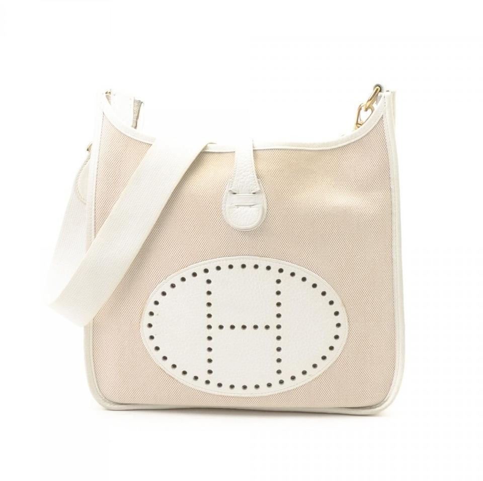 4442c0d8b47e Hermès Evelyne Toile Pm Ivory Barenia Leather Cross Body Bag 74% off retail