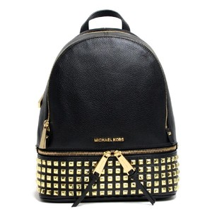 6658d69a94ca Michael Kors Mk Rhea Rhea Mk Medium Rhea Mk Leather Rhea Pyramid Studded  Backpack