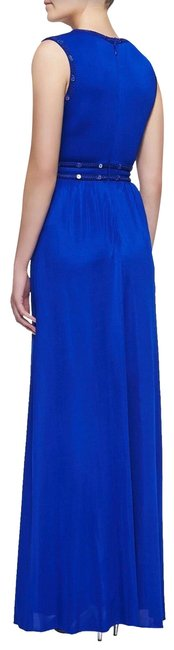 Blue Maxi Dress by BCBGMAXAZRIA Royal Maxi Long Gown Cut-out Image 1