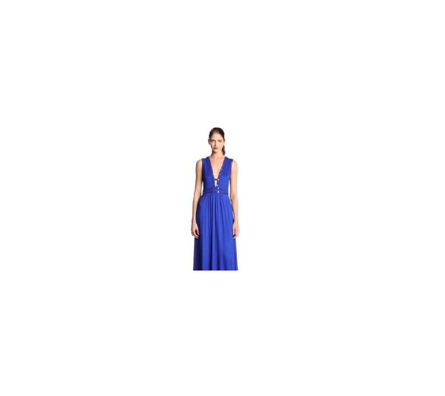 Blue Maxi Dress by BCBGMAXAZRIA Royal Maxi Long Gown Cut-out Image 2