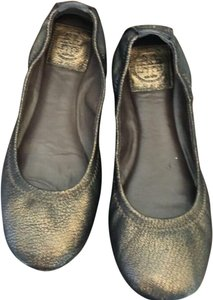 Tory Burch Bronze Black Flats