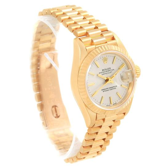 Rolex Rolex President Datejust 18k Yellow Gold Silver Dial Ladies Watch 7917 Image 2