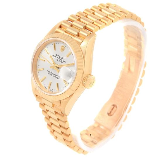 Rolex Rolex President Datejust 18k Yellow Gold Silver Dial Ladies Watch 7917 Image 3