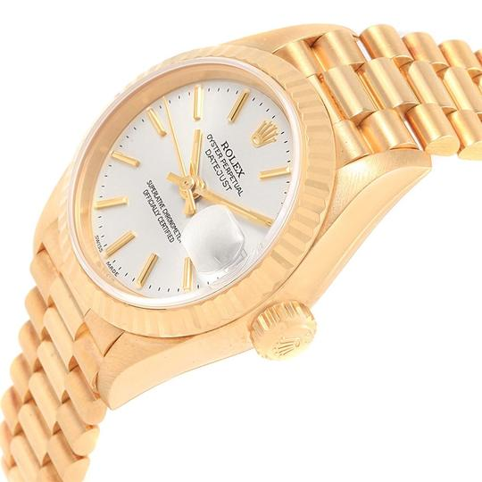 Rolex Rolex President Datejust 18k Yellow Gold Silver Dial Ladies Watch 7917 Image 4