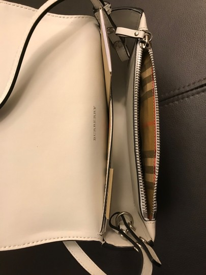 Burberry Hampshire Perforated Leather Detachable Strap Black Logo Cross Body Bag Image 6