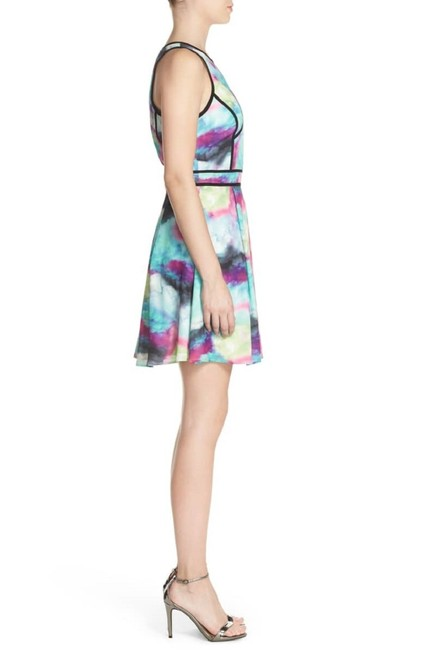 adelyn rae Colored Abstract Pastel Fit And Flare Mini Dress Image 1