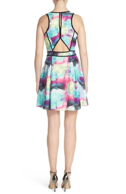 adelyn rae Colored Abstract Pastel Fit And Flare Mini Dress Image 2