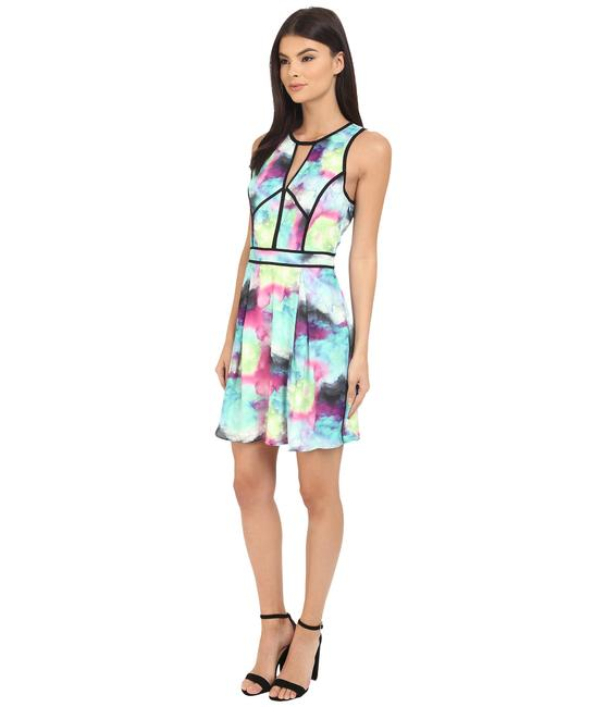 adelyn rae Colored Abstract Pastel Fit And Flare Mini Dress Image 5