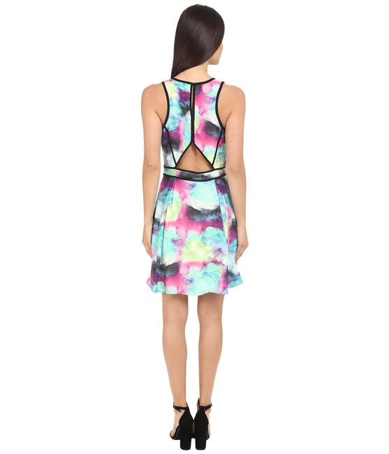 adelyn rae Colored Abstract Pastel Fit And Flare Mini Dress Image 6