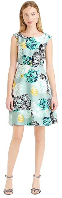 J.Crew Turquoise Aquatic Floral Short Casual Dress Size 10 (M) J.Crew Turquoise Aquatic Floral Short Casual Dress Size 10 (M) Image 1