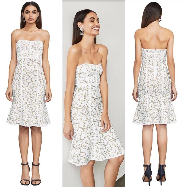 BCBGMAXAZRIA short dress White Night Out Date Night Cocktail Bodycon Strapless on Tradesy Image 2