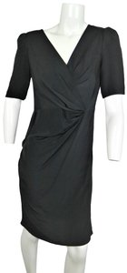 Ann Taylor Silk Ruched V-neck Draped A-line Dress