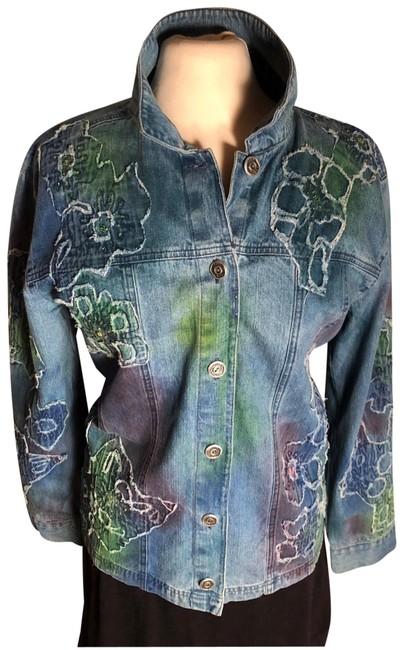 Preload https://img-static.tradesy.com/item/24846569/chico-s-bluecoralaqua-nwot-sz-2large-chico-s-cottonmukti-colored-sequinsbeaded-jean-jacket-size-12-l-0-1-650-650.jpg