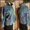 Chico's Blue/Coral/Aqua Womens Jean Jacket Image 2