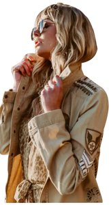 Spell & the Gypsy Collective Embroidered Studded Military Jacket