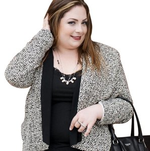 Bobeau black + white Blazer
