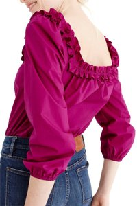 J.Crew Ruffle Blouse Party Top Pink
