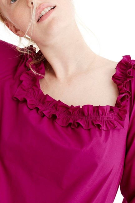 J.Crew Ruffle Blouse Party Top Pink Image 1