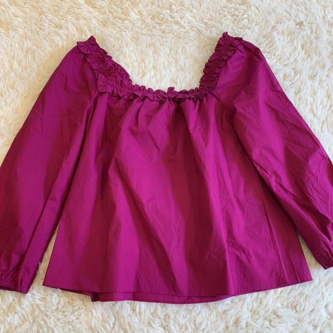 J.Crew Ruffle Blouse Party Top Pink Image 3