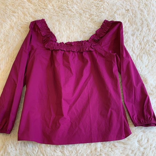 J.Crew Ruffle Blouse Party Top Pink Image 4