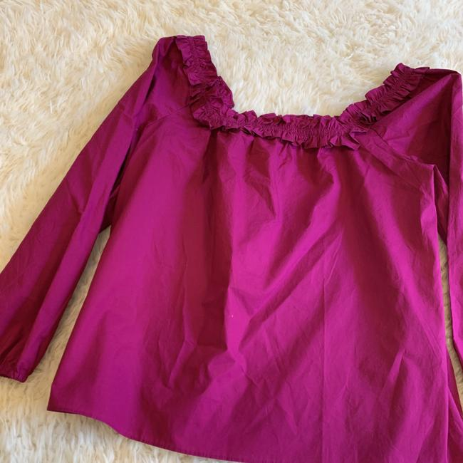 J.Crew Ruffle Blouse Party Top Pink Image 6