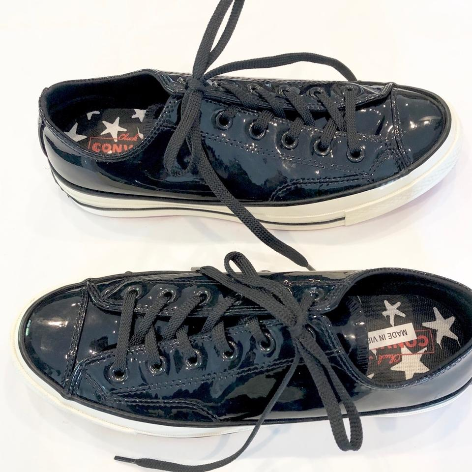 sale retailer 8073c 39379 Converse Black Red Bottom Patent Leather Chuck Taylor Sneakers Size US 9  Regular (M, B) 74% off retail