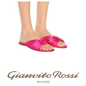 Gianvito Rossi Pink Flats