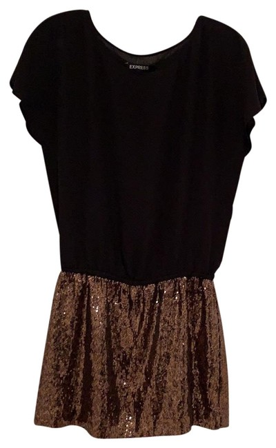 Preload https://img-static.tradesy.com/item/24846822/express-black-and-gold-sequin-bottom-short-cocktail-dress-size-2-xs-0-1-650-650.jpg