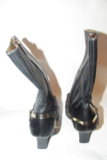Carlos by Carlos Santana 'fire' Style Size 9b Leather/Gold Bold Gold Hardware Mint Condition Mid-calf/3.5