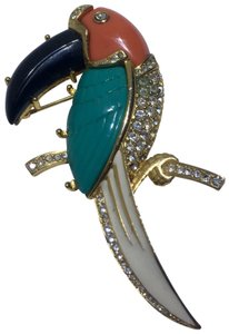 Kenneth Jay Lane Vintage Kenneth Jay Lane Parrot Brooch Pin