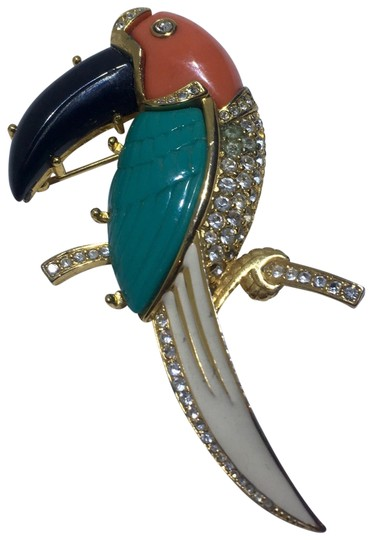Kenneth Jay Lane Vintage Kenneth Jay Lane Parrot Brooch Pin Image 0