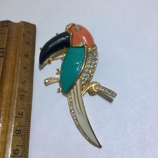 Kenneth Jay Lane Vintage Kenneth Jay Lane Parrot Brooch Pin Image 1