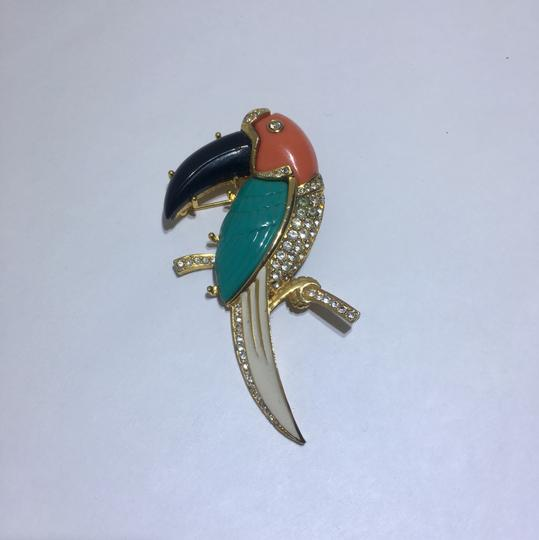 Kenneth Jay Lane Vintage Kenneth Jay Lane Parrot Brooch Pin Image 3