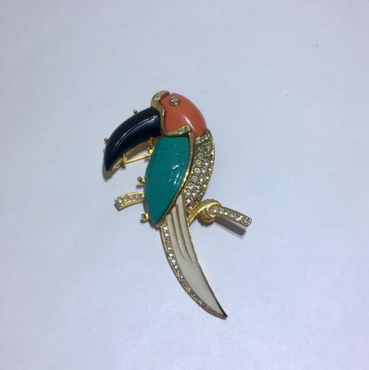 Kenneth Jay Lane Vintage Kenneth Jay Lane Parrot Brooch Pin Image 4