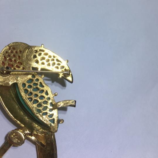 Kenneth Jay Lane Vintage Kenneth Jay Lane Parrot Brooch Pin Image 7