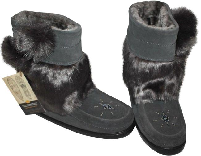 Gray New Witobah Faux-fur Mukluks H1195 Boots/Booties Size US 8 Regular (M, B) Gray New Witobah Faux-fur Mukluks H1195 Boots/Booties Size US 8 Regular (M, B) Image 1