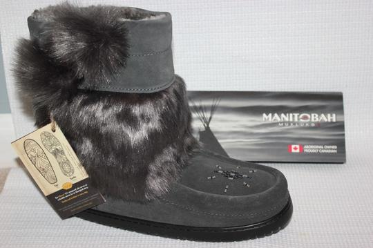 MANITOBAH FOR J.CREW Gray Boots Image 5