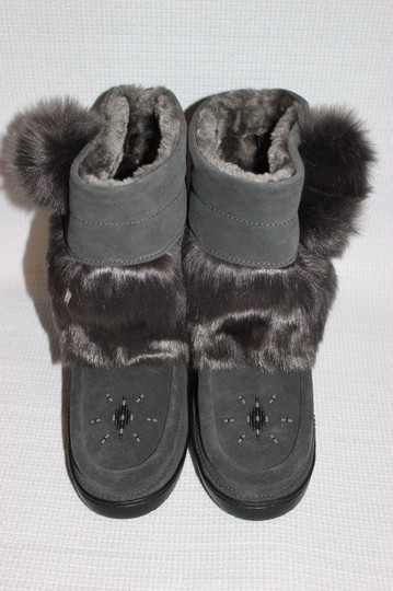 MANITOBAH FOR J.CREW Gray Boots Image 6