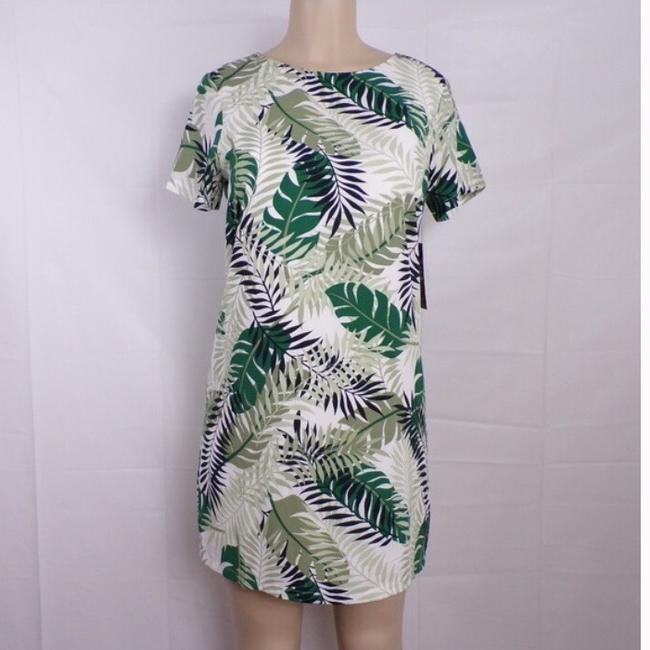 Lulu's Palm Leaf Shift Dress short dress green on Tradesy Image 1