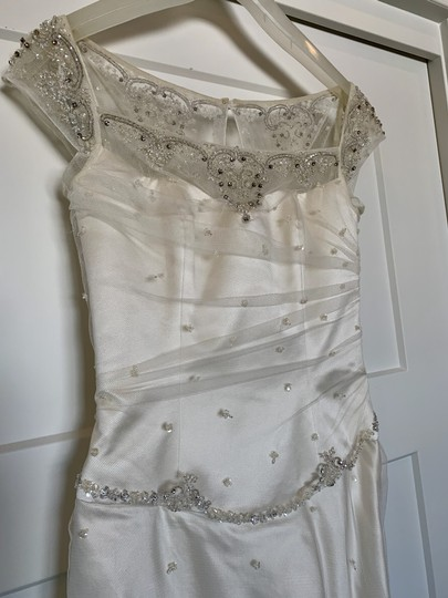 Augusta Jones White Silk Exquisite Detail Formal Wedding Dress Size 4 (S) Image 0