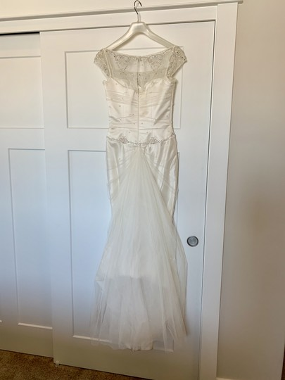 Augusta Jones White Silk Exquisite Detail Formal Wedding Dress Size 4 (S) Image 1